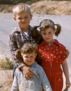 Brother Bill, Little Sister Celeste, and Me (in red, of course!)