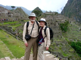 No Mountain Too High...Uncle John and Aunt Phyllis at Machu Picchu